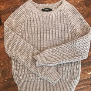 Super chunky gray knit sweater